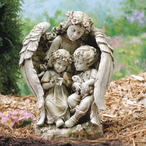 Garden Angel with Children Statue 1575 Catholic Faith