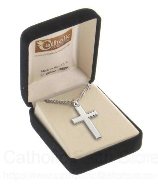 09488773ea1 Men's High Polish Cross Pendant Beveled Edge - Sterling Silver. ROLL ON TO  ZOOM. VIEW LARGER. Alternate Image 1