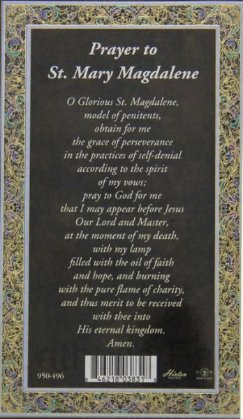 St J Auto >> St. Mary Magdalene Medal in Pewter with Bi-Fold Prayer Card