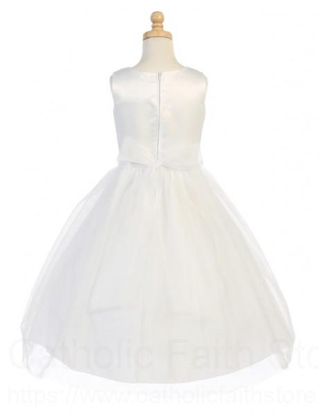 Plus Size First Communion Dress with Bow Accent, Size 12X