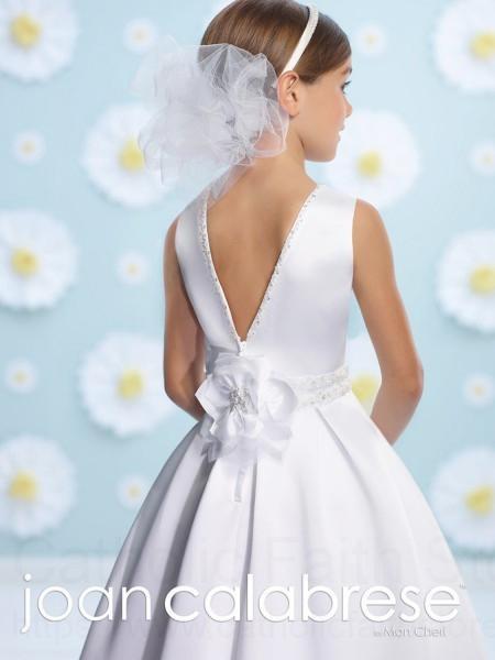 Plus Size First Communion Dress With Elegant V Back
