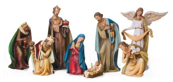 Ceramic Nativity Set 12 1 2 Inch