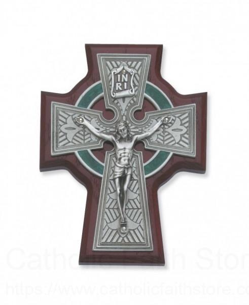 Cherry wood celtic crucifix 5 5 h - Exterior church crosses for sale ...