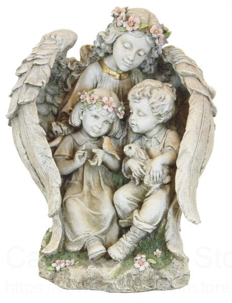 Garden Angel with Children Statue 1575 from Catholic Faith