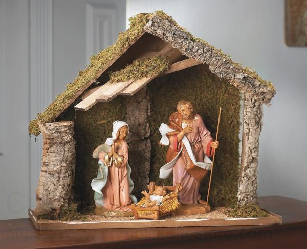 Holy Family Nativity Set With Stable 21 1 4 H