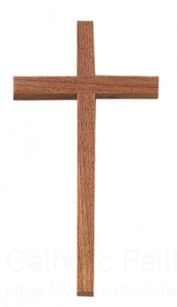 Plain wooden cross