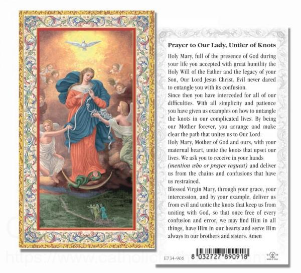 Our Lady Untier Of Knots Prayer Card 100 Per Pack