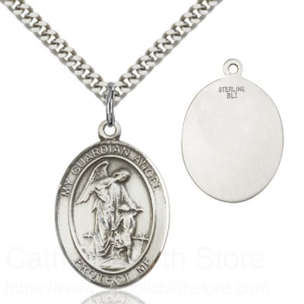 Guardian angel pendant from catholic faith store 1 x 34 view larger aloadofball Image collections
