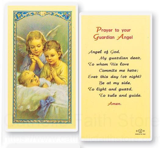 Guardian Angels Angel Of God Laminated Prayer Cards 25 Pack