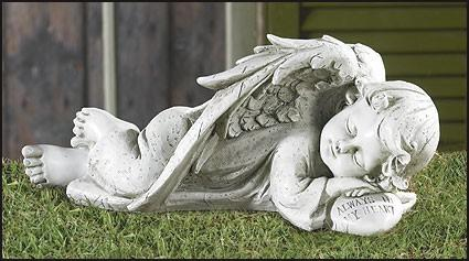 VIEW LARGER. Overview; Reviews (4). Sleeping Angel Garden Statue ...