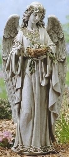 Garden Angel Holding Bird Nest Statue 24 from Catholic Faith