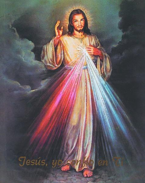 Spanish Divine Mercy Print Sold In 3 Per Pack