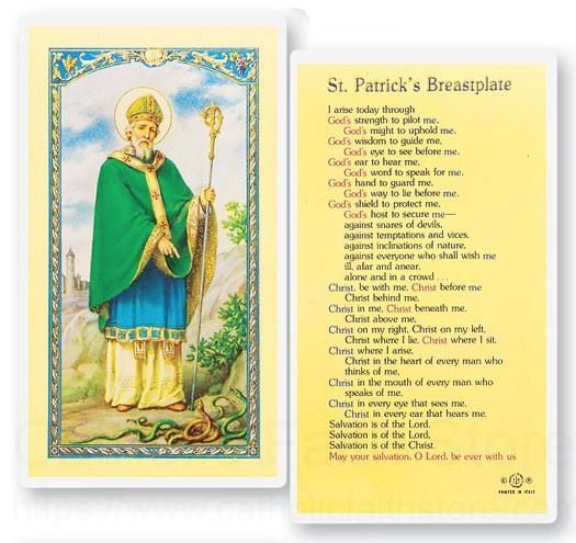 St Patrick Breastplate Laminated Prayer Cards 25 Pack