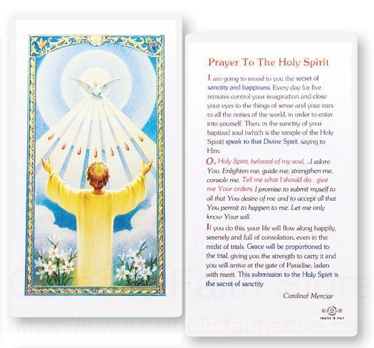 Confirmation Holy Spirit Laminated Prayer Cards 25 Pack