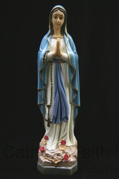 Our Lady Of Lourdes Statue Blue And Gold Robe 19 Inch
