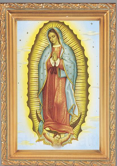 Our Lady Of Guadalupe Antique Gold Framed Print