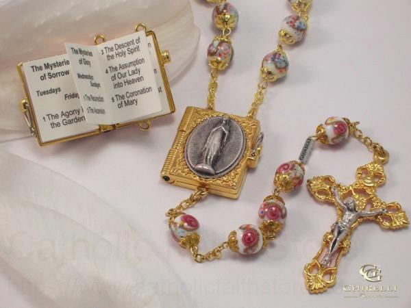 Ghirelli rosary our lady of lourdes gold plated