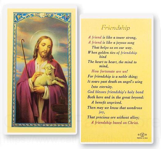 Friendship laminated prayer cards 25 pack view larger altavistaventures Image collections