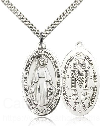 Men S Classic Oval Miraculous Medal