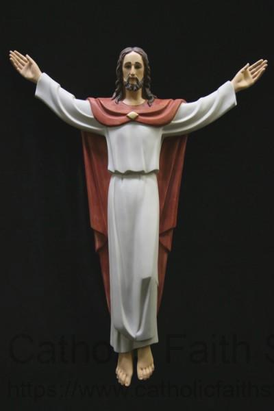 Risen Christ Statue Marble Composite 32 Inch