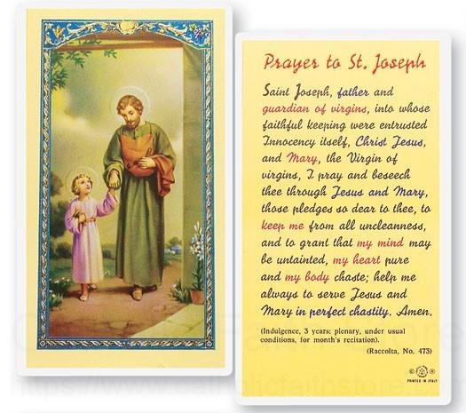 St J Auto >> Prayer To St. Joseph Laminated Prayer Cards 25 Pack