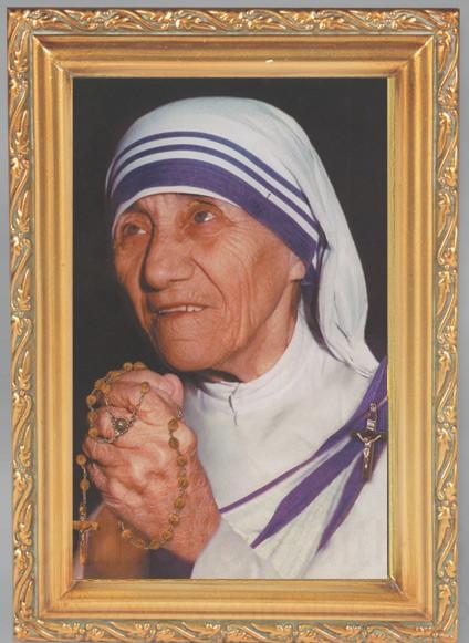 Mother Teresa Antique Gold Framed Print