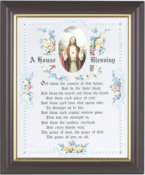 Sacred Heart House Blessing Framed Print