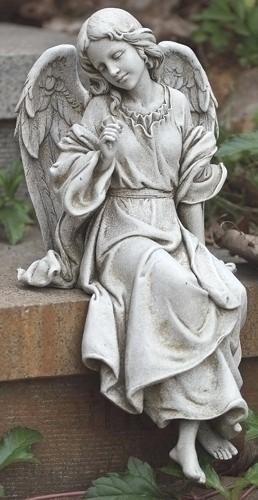 sitting angel garden statue 12 34quoth