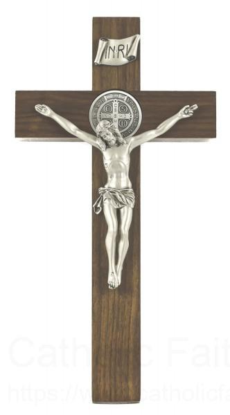Wall crucifix with st benedict 12 inch - Exterior church crosses for sale ...