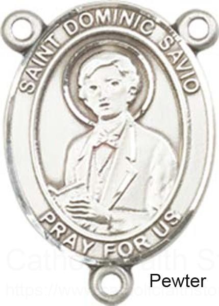 St dominic savio rosary centerpiece sterling silver or pewter for Saint dominic savio coloring page