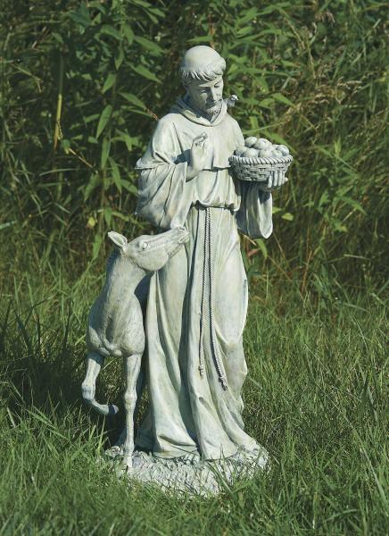 St Francis Garden Statue With Horse 25 5