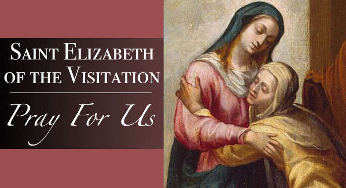 Saint Elizabeth of the Visitation Necklace