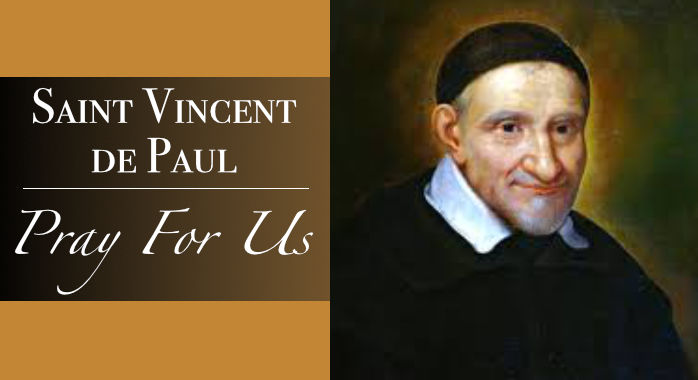 Saint St. Vincent De Paul Necklace