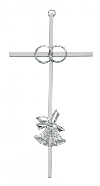 25th Anniversary Cross - 8 inch Metal - Silver