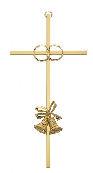 50th Anniversary Cross - 8 inch Metal - Gold