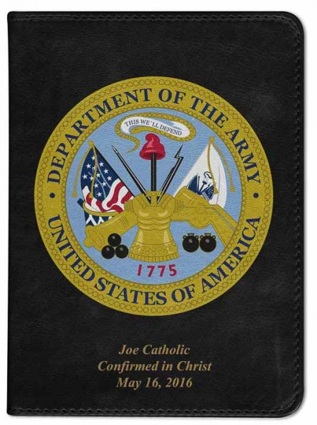 Army Cover Catholic Bible - Black