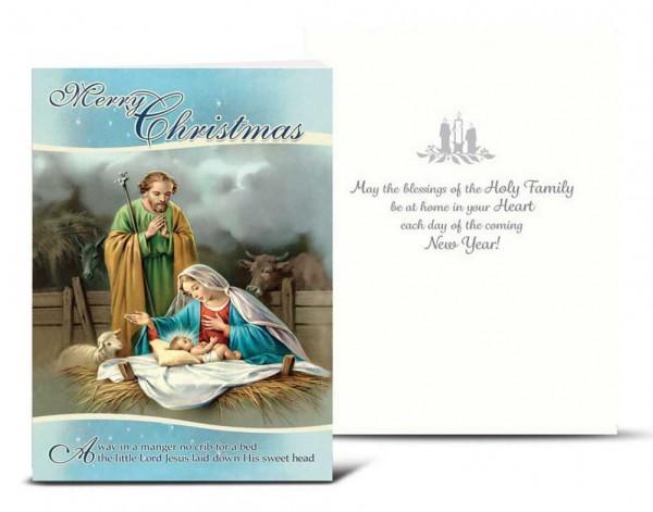 Away In Manger Christmas Card Set Full Color