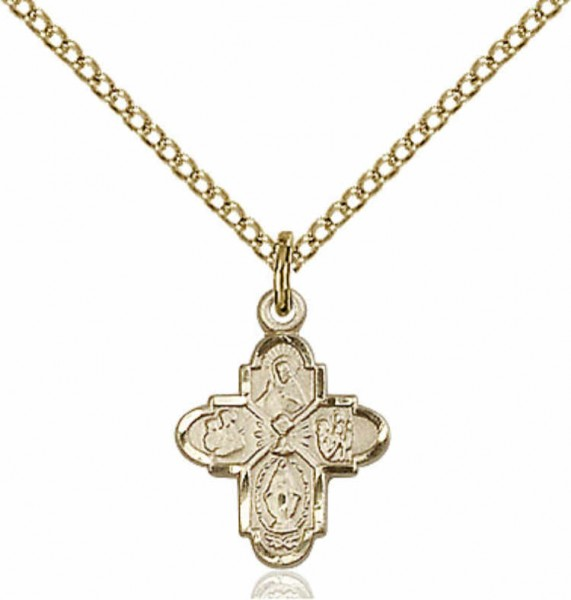 Baby 4-Way Chalice Pendant - 14KT Gold Filled