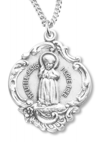 Baby Jesus Medal Sterling Silver - Silver
