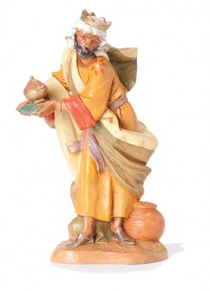"Balthazar Wise Man Nativity Statue - 12"" scale - Multi-Color"