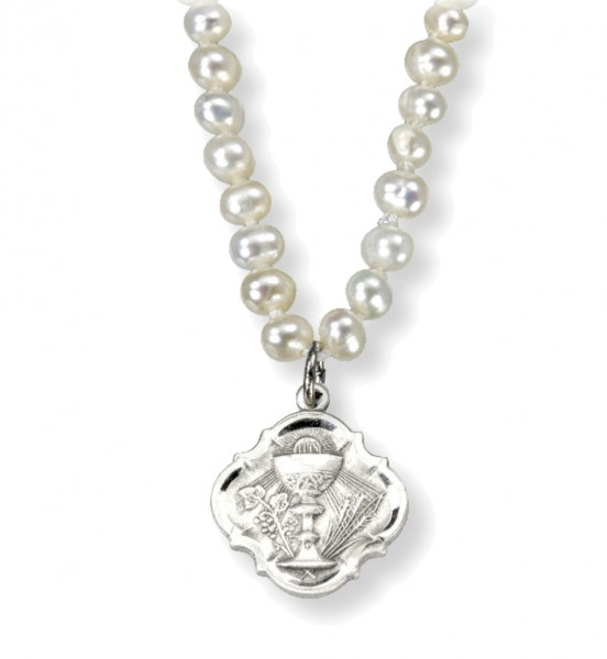 Baroque Chalice Necklace with Freshwater Pearls - Sterling Silver