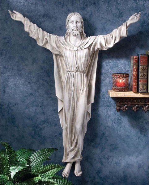 Benediction of Jesus Wall Sculpture - White