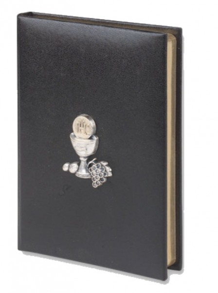 Black Cover First Communion Missal with Raised Chalice - Black
