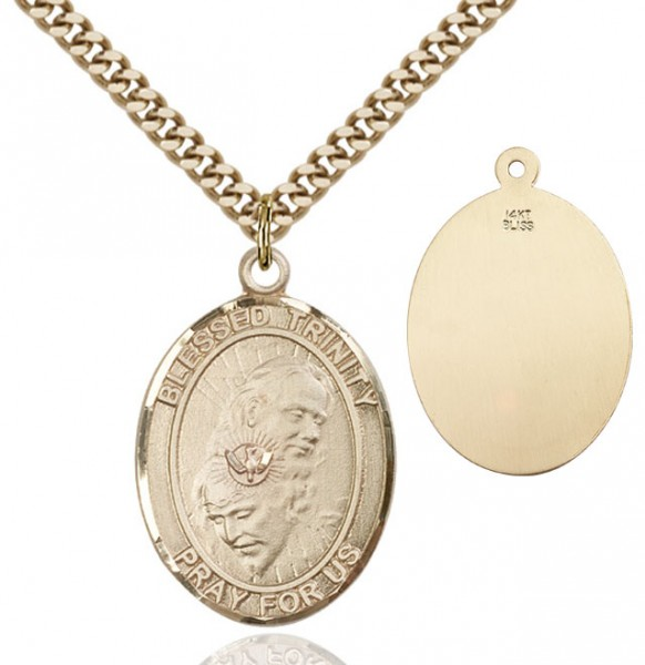 Blessed Trinity Medal - 14KT Gold Filled