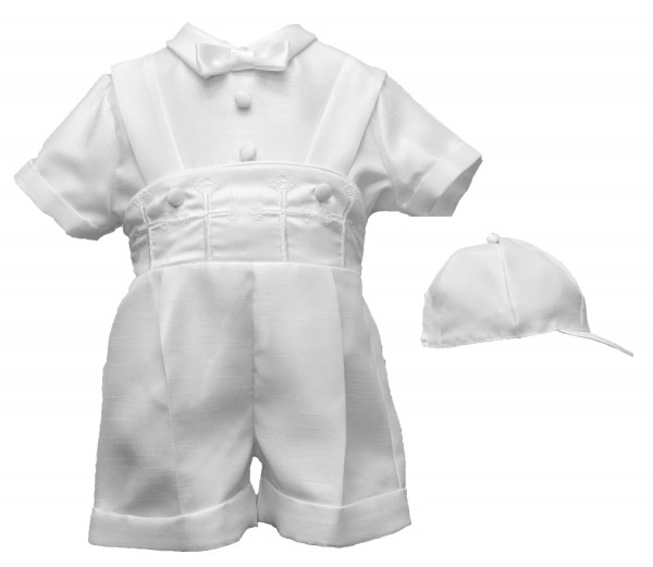 Boxer Shorts with Crosses on Waist Baptism Outfit - White