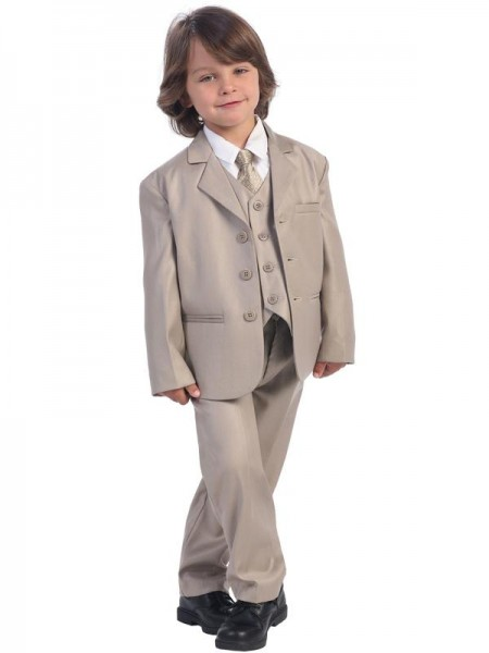 Boy's 5 Piece Khaki Suit - Khaki