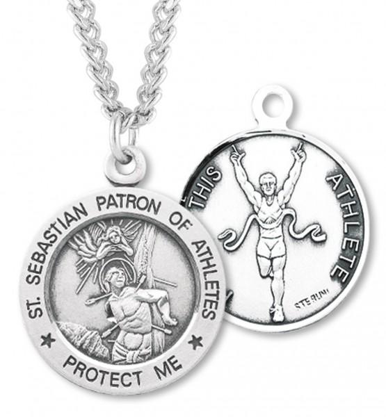 Boys st sebastian track medal sterling silver boys st sebastian track medal sterling silver silver aloadofball Images