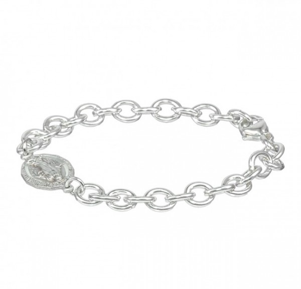 Bracelet - Sterling Silver with Miraculous Charm - Sterling Silver