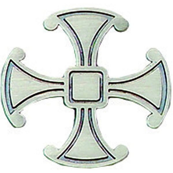 Canterbury Cross Pin - Silver