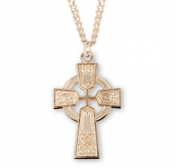 Celtic Cross 14kt Gold Plated - Gold